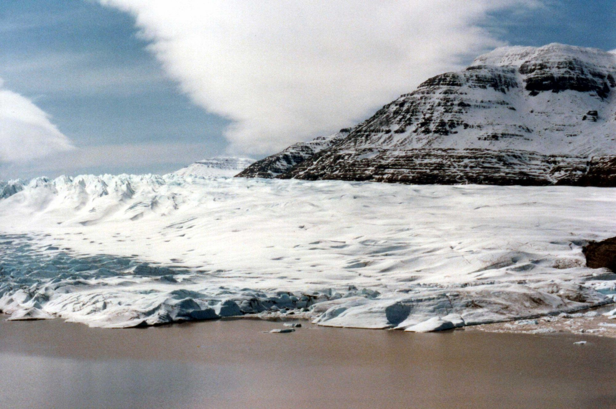 The terminus of a glacier at the southern end of Cook Ice Cap (Source: B. Navez)