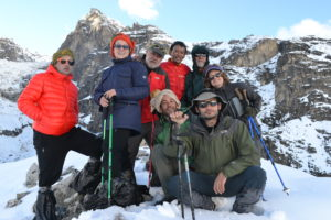 The Group Photo of the Whole Team Taken in Himalaya ( Source: Dr. Salerno)