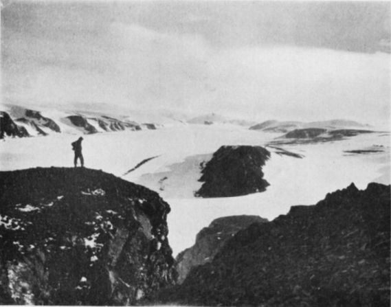 Chydeniusbreen as seen in a photograph taken in 1923 (Source: R. Frazer/The Geographical Journal)