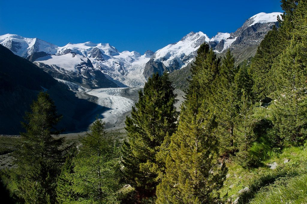 Glaciers in the Italian Alps