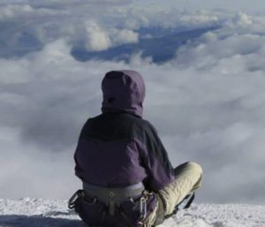 Lixayda Vasquez, on her 21st birthday, on the summit of Cotopaxi, Ecuador (source: Lixayda Vasquez/Facebook)