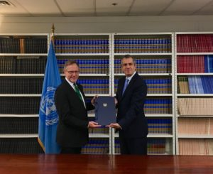 New Zealand deposits instrument of ratification at UN (source: Paula Bennett/Twitter)