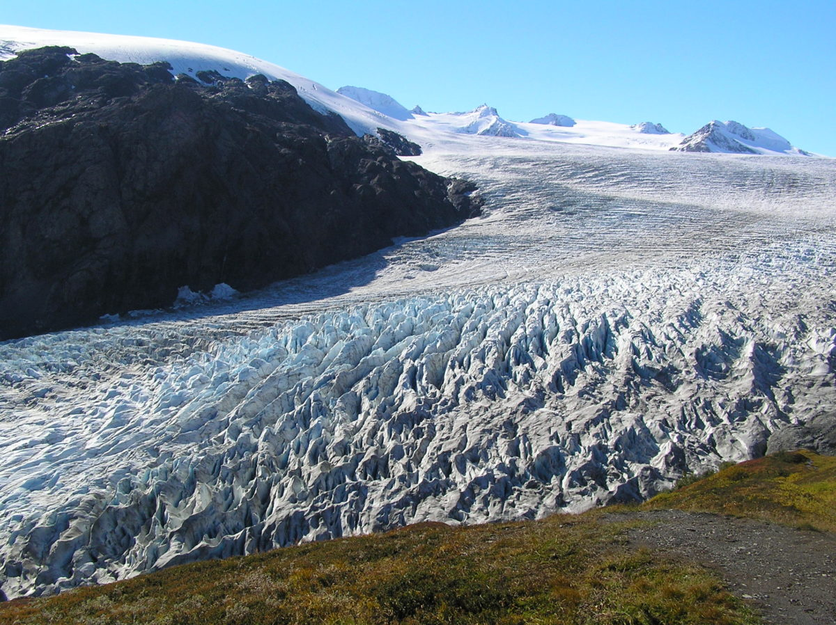 A glacier in Kenai National Park, where Porcupine glacier is located