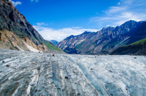 A glacier region in the Himalayas (Source: Pradeep Kumbhashi).