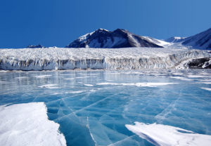 A view of the Canada Glacier involved in the field study. (Source:Joe Mastroianni, National Science Foundation)