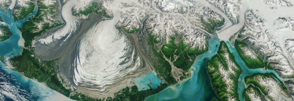 Photo Friday: Malaspina Glacier as Seen From Space