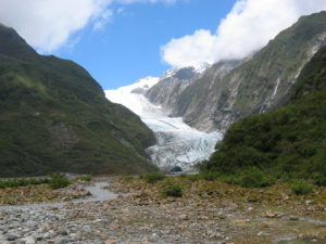 The terminus of Franz Josef Glacier, as seen in 2006 (Source: Sarah Toh)