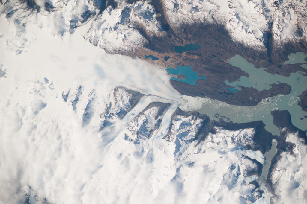 Image of Upsala Glacier retreat and Patagonia Icefield (Source: NASA/Creative Commons).