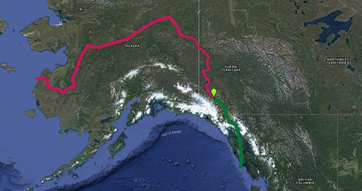 Glacial Retreat Causes A Yukon River To Disappear GlacierHub - Yukon river world map