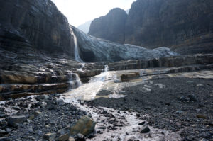 Glacier National Park has many streams fed by glacial meltwater (Source: Joe Giersch/USGS).