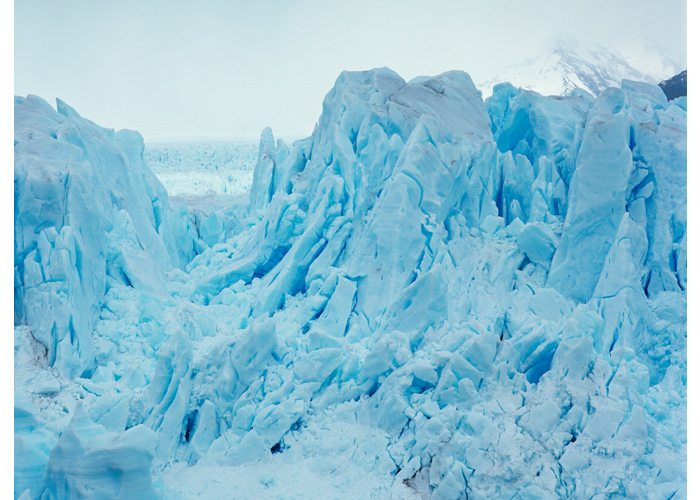 The Perrito Moreno glacier is 30km in length stemming from the south Patagonian ice field, Moreno, Argentina 2008 (source: Klaus Thymann/Project Pressure).