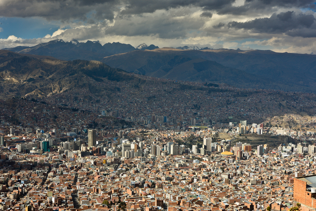 View of the Bolivian Andes and the city of La Paz (Source: Cliff Hllis/Flickr).