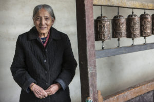 Queen Sidol Palbar Bista in Lo Manthang (Source: Tom Kelly/Courtesy of Nepali Times).