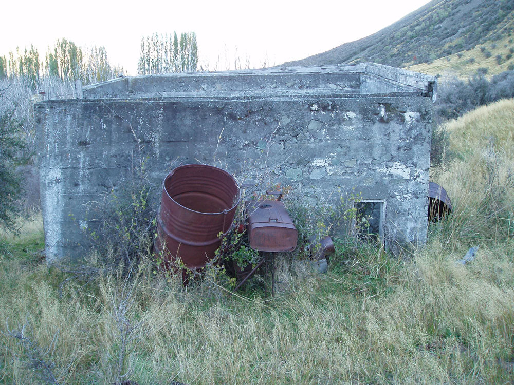 The shed that housed the hydropower scheme (Source: Katharine Watson/Christchurch Uncovered).