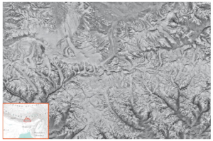 Declassified Corona spy satellite image from the year 1974 showing the glaciers in Bhutan (Source:Joshua Maurer).