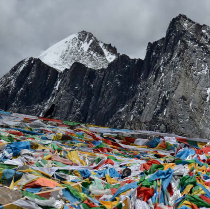 Prayer flags at Mount Kailash (Source: The Way to the Sacred Land).