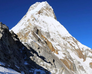 View of Ama Dablam peak from Ama Dablam (Source: Neal Beidleman/Instagram).