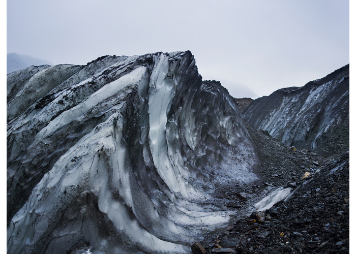 Wavelike formation next to the Tuv Glacier in the Hornsund fjord, Southern Svalbard, 2013 (source: Corey Arnold/Project Pressure).