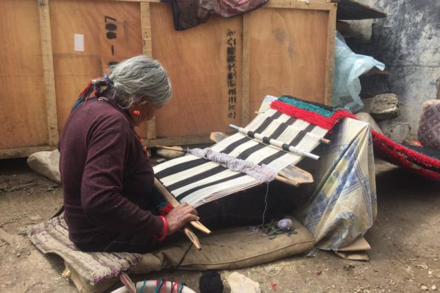 Limi woman weaving in Taklakot (Source: Emily Yeh/University of Colorado).