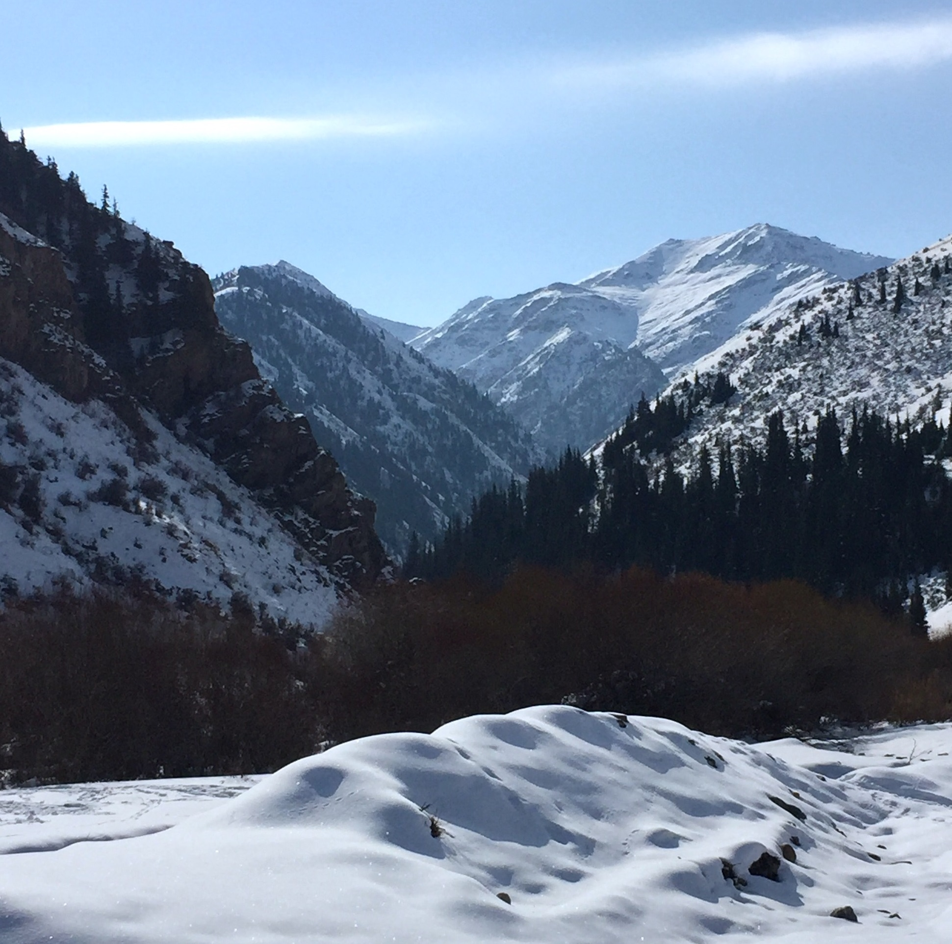Tien Shan mountains, Salken Tor National Park, November 2016 (source: B. Orlove)