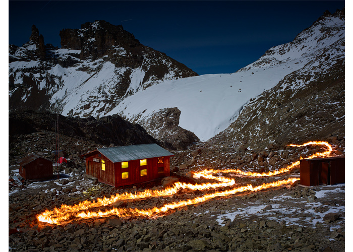 In 1963 Lewis glacier ran past the guides' hut, taken from the series 'When I Am Laid in Earth' by Simon Norfolk Lewis Glacier, Kenya 2014 (source: Simon Norfolk/Project Pressure).