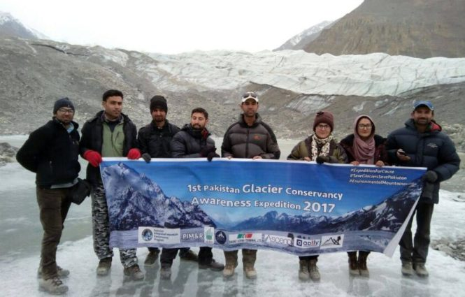 1st Winter Glacier Conservancy Awareness Expedition 2017 (source: Pakistan Integrated Mountain Conservancy Program).
