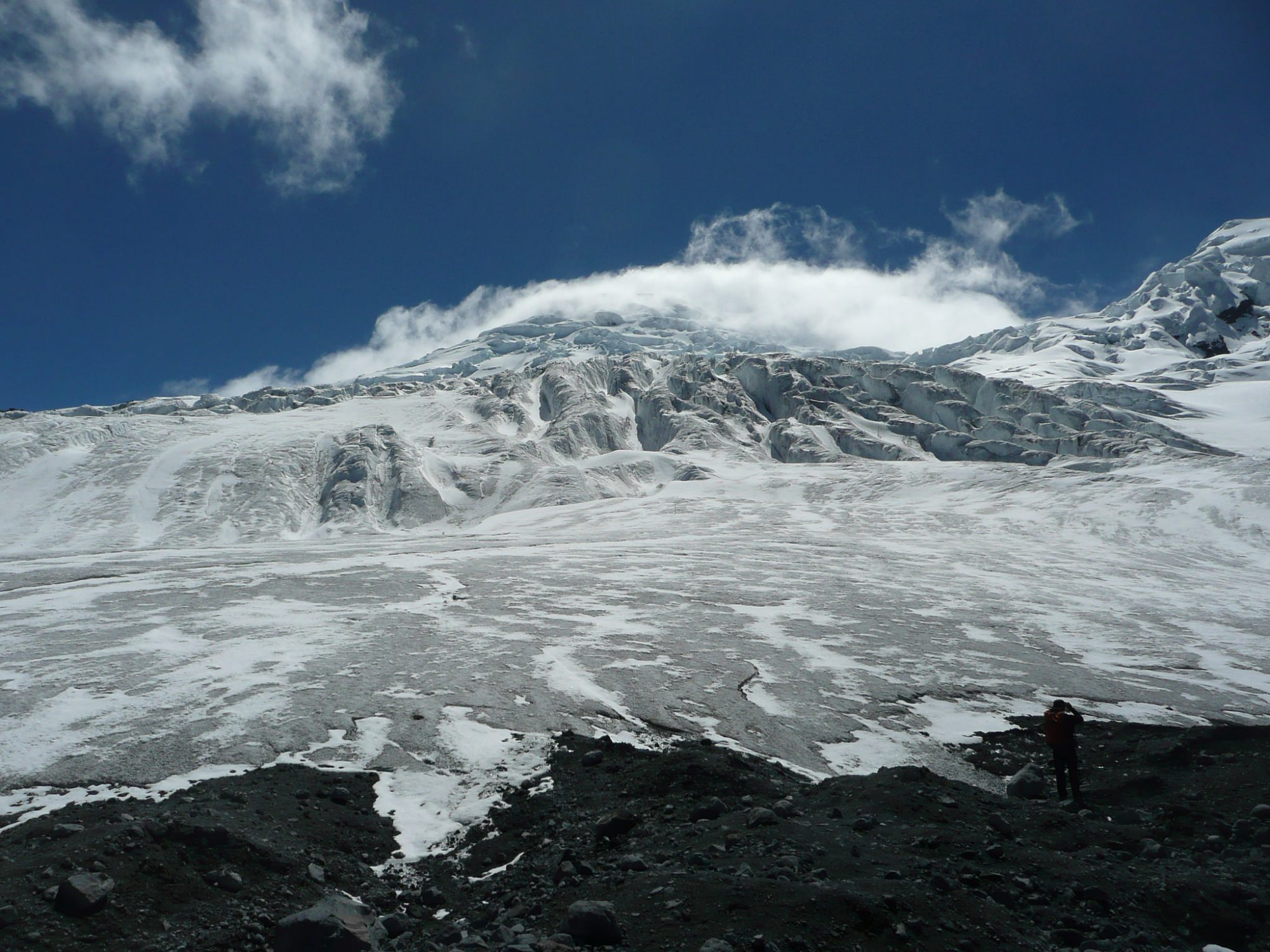 The Antisana glaciers which are experiencing retreat, according to UNEP (Source: Sid Ansari/Flickr).