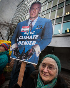 150 people joined a rally at Senator Wyden's office in Portland opposed to President-elect Trump's 'Climate Denial Cabinet' (Source: 350.org/Flickr). https://www.flickr.com/photos/350org/31426067143/in/photolist-QVxoFh-RuZMuZ-pjY1P1-oehSGb-qN2AVJ-ndCjQY-ELPXyq-EXiFgc-rqSFGM-qu6h96-p1ALEN-r9jjK1-oN9qAq-r9qM7B-r9iiRY-rqSHAr-r9jmCj-EUZyBu-DZVtEt-EUZPR7-QTiGxm-QVYmQe-QTiJiq-QxfyAy-QTiMrj-v2c3ey-PT1NEz-PT1NNv-PT1P2g-PT1NTR-Q3iznc-NWbo9m-Qahg9J-PZABAW-NWb8f3-NWb6P7-Qdw8Av-PDB8CN-QdwzU2-DZVL9k-EP7KHe-EXiU6k-EXiMNv-EvbM3h-ELQjbs-Qdwzcv-QagR3h-PDAKCW-QdwbFD-r9qLwt