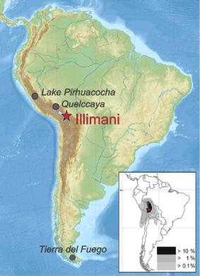 Location of Illimani (source: Eichler et al.).