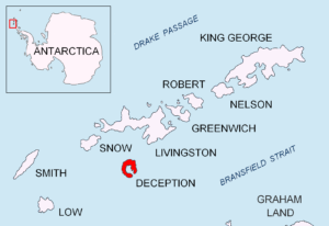 Deception Island and Port Foster (Source: Apcbg/Wikimedia Commons).