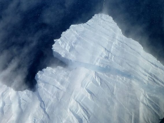 The calving front of Pine Island Glacier (Source: NASA/Creative Commons).