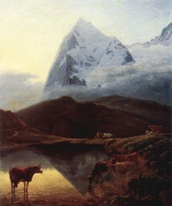 Painting of The Great Eiger, as seen from Wengernalp in Valais (Source: Maximilien de Meuron/Creative Commons).