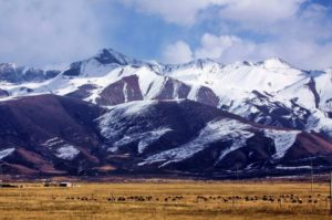Mount Qilian in fall (source: Xiwu).