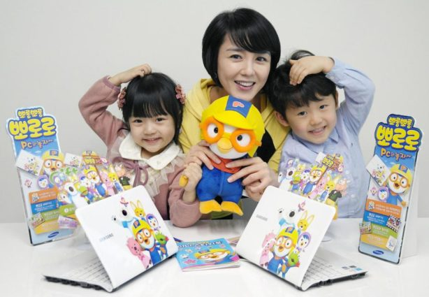Pororo the Little Penguin is very popular in Korea and almost everyone knows it (source: Samsung Newsroom).