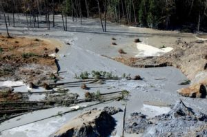 Mudslide from a lahar 55 miles northeast of Seattle (Source: Mitchell Battros/Creative Commons).