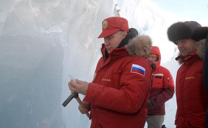 Vladimir Putin visited an Arctic glacier (Source: Creative Commons).