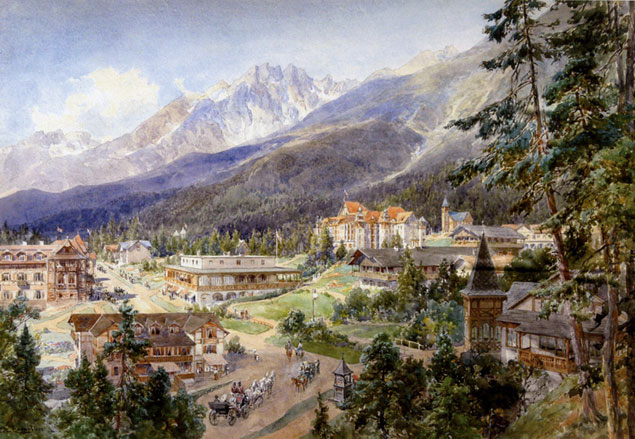 'Altschmecks in the High Tatras', 1890, a town in the High Tatras Mountain range on the border of northern Slovakia (Source: Creative Commons).