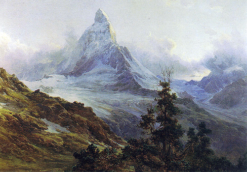 The Matterhorn and its glacier (Source: Fredou / Creative Commons).