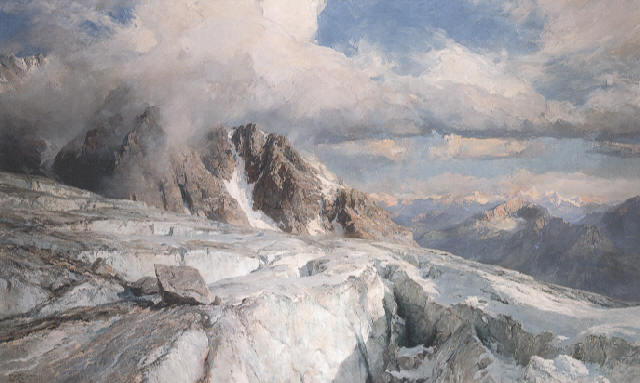 Saleina Glacier on the northeastern edge of Mont Blanc, 1906 (Source: Creative Commons).