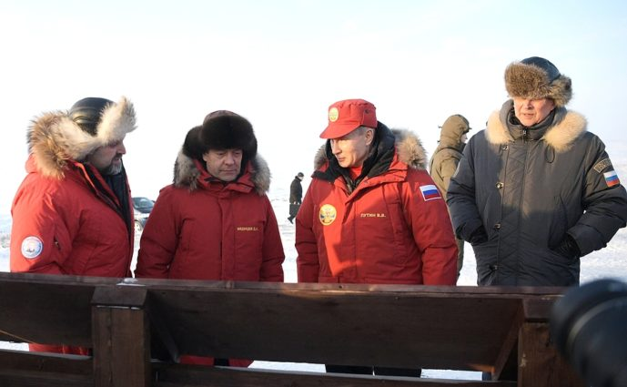 Putin was accompanied by other senior members of government (Source: Kremlin / Creative Commons).