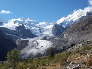 The Morteratsch Glacier. (Source: Johannes Oerlemans)