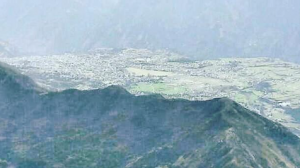 View of the Kishtwar Town located near the site of the dam