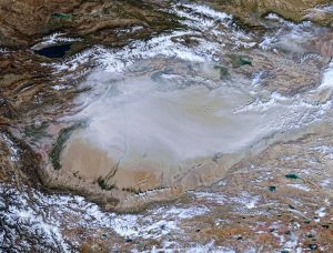 Satellite image of the Tarim Basin