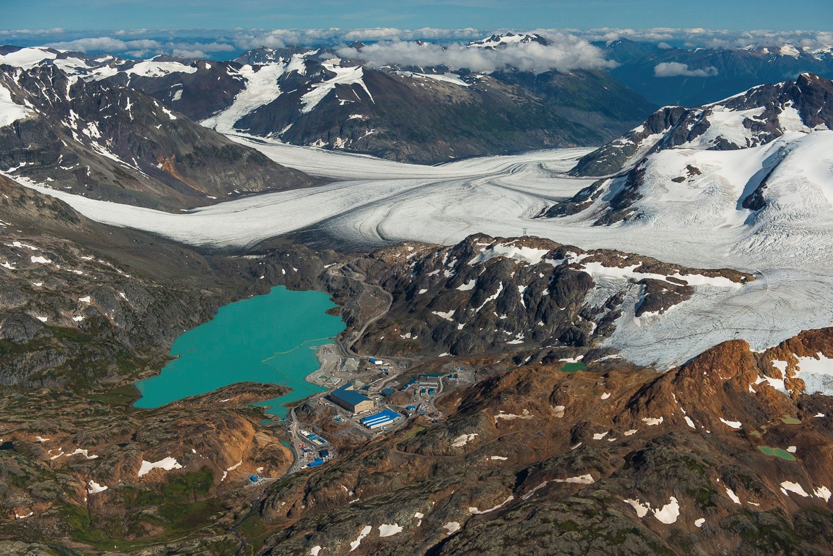 Brucejack Mine with the Knipple Glacier in the background