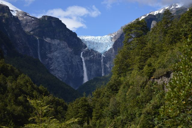 Photo of the Queulat Hanging Glacier