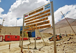 Photo of the entrance to Pascua Lama mine
