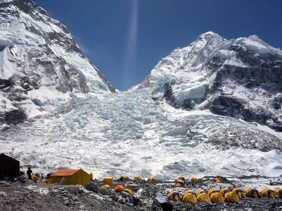 Photo of the Khumbu Icefall