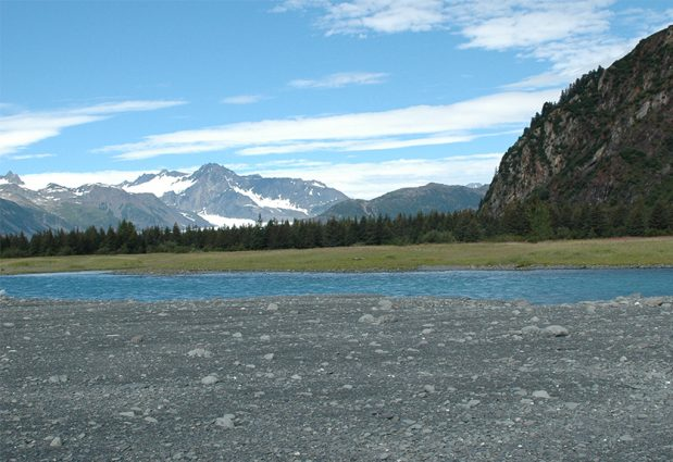 Alaska Range, Bear Glacier in 2005 on GlacierHub