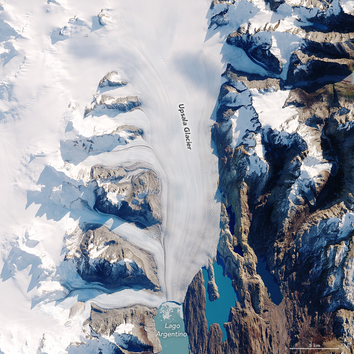 Aerial photo of the Upsala Glacier