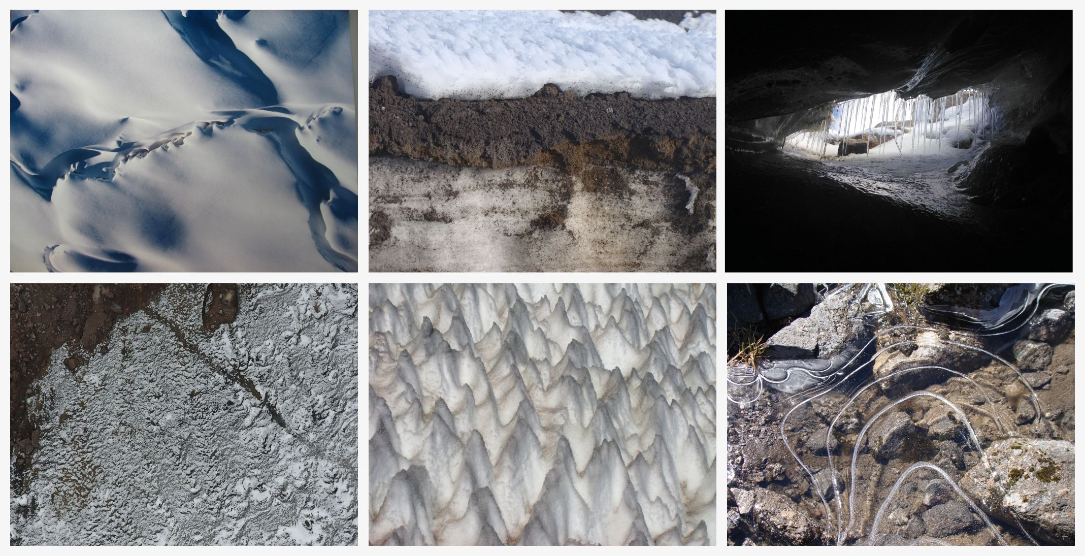 Different textures of glaciers found in Colombia on GlacierHub